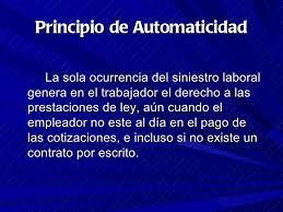 Principio de automaticidad de las prestaciones